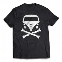 Vosvos Minibus Tişört  VW Skull Konsept Tshirt