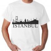 İstanbul Silüet Baskılı Tişört