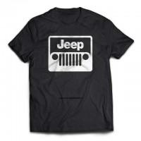 Off Road Jeep v2 Tişört  Siyah Beyaz Baskılı