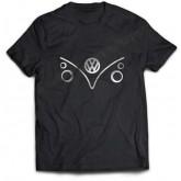 Vosvos Minibus Tişört Metalik Baskılı VW Konsept Tişört