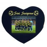 Fenerbahçe Taraftar Yastığı Kalpli